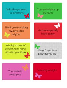 free printable kindness cards Great to tuck into library books!