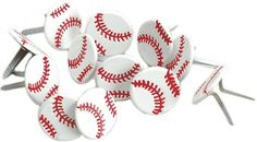 Eyelet Outlet Brads-Baseball 12/Pkg | SongbirdCrafts - Scrapbooking on ArtFire