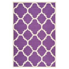BERKSHIRE RUG IN PURPLE Anchor your living room seating group or define space in the den with this hand-tufted wool rug, featuring a geometric motif for eye-catching appeal.