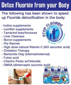 Detox poisonous flouride from your body!