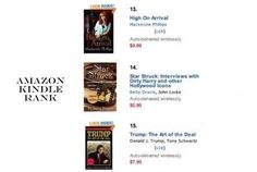 #14 IN RICH & FAMOUS; KINDLE! My STAR STRUCK; INTERVIEWS WITH DIRTY HARRY AND OTHER HOLLYWOOD ICONS was ranked #14 in Amazon KIndle Paid. The best rank it had overall was #14. Thanks for all my fans and friends.