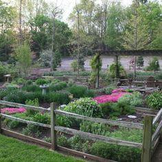 raised herb gardens