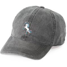 Women s SO® Embroidered Unicorn Baseball Cap ( 13) ❤ liked on Polyvore  featuring accessories b150831506e
