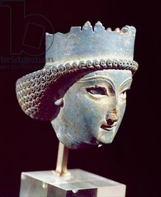 Head of a prince, from Persepolis, 5th-4th century BC (lapis lazuli) Title: Achaemenid, (550-330 BC) Primary creator: Iranian Nationality: National Museum of Iran, Tehran Location: Giraudon Credit: lapis lazuli Medium: Jewellery Middle and Near Eas