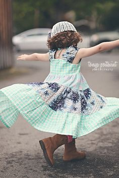 Bali Gate Tiered Twirly Dress -- Available in sizes 6m 12m 18m 2 3 4 5 6 7 8 9 10 12 fashion children clothing. $49.95, via Etsy.
