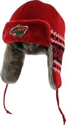 Minnesota Wild Red New Era Team Trapper Trooper Hat