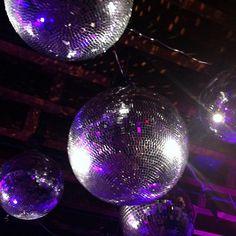 Disco balls make a statement.