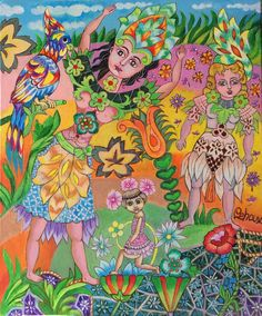 Le perroquet dans la jungle