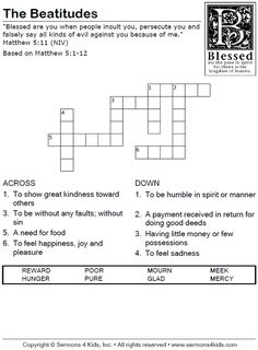 The Happy Puppy Crossword Puzzle - Children's Sermons from Sermons4Kids.com