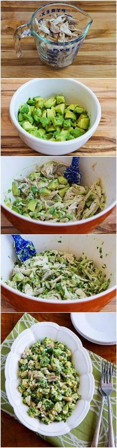 Chicken and Avocado Salad with Lime and Cilantro Recipe. Sub Greek yogurt instead of mayo and this works for the 21 Day Fix! Chicken and Avocado Salad with Lime and Cilantro Recipe. Sub Greek yogurt instead of mayo and this works for the 21 Day Fix! Think Food, I Love Food, Cilantro Recipes, Healthy Avocado Recipes, Paleo Lunch Recipes, Tostada Recipes, Cantaloupe Recipes, Radish Recipes, Juicer Recipes