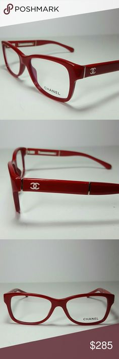 Chanel Eyeglasses New and authentic  Chanel Eyeglasses  Beautiful red frame  Size 52-16-135  Includes original case Chanel  Accessories Glasses