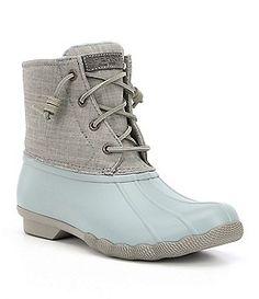 a9d2b3dd3feac4 Sperry Women´s Saltwater Metallic Waterproof Duck Rain Boots Duck Boots  Outfit