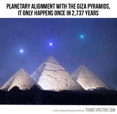 A once in a lifetime event... - The Meta Picture ~ I always knew the pyramids had something to do with astrology.