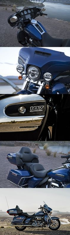 The choice of riders who want the essential touring machine since 1965. And now, with the passing power of the all-new Milwaukee-Eight 107 engine and all new front and rear suspension. | 2017 Harley-Davidson Electra Glide Ultra Classic