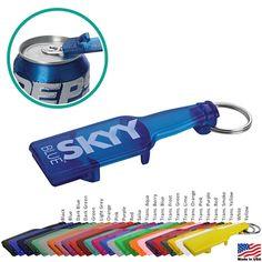 FUN Bottle Shaped Opener/Keychain $0.69/eachPromotional Bottle Shape Opener Keychain | Customized Keychains