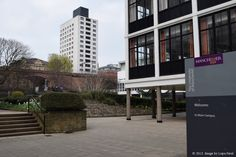 Opened in 1967, The Barnes Wallis Building & Wright Robinson Hall is a university building in central Manchester. It forms part of the campus of the former University of Manchester Institute of Science and Technology (UMIST), now part of the University of Manchester.