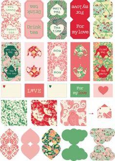 Free printable tea bag tags at: Etiquettes sachets de the Printable Labels, Printable Paper, Party Printables, Free Printables, Tea Bag Cookies, Diy Paper, Paper Crafts, Tea Labels, Tea Tag