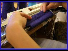 Вязание подгиба на вязальной машине. Изнаночная часть подгиба Ложная резинка. Низ подгиба зубчики - YouTube
