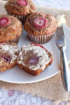 Strawberry-Banana Muffins