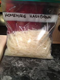 HOW to MAKE FREEZER HASH BROWNS • 11 Step Tutorial • They keep in the freezer for about a year. Make in batches & keep for future use. • Necessities: Potatoes, Salt, Paper towels, Pot for boiling, Baking sheet for spreading out