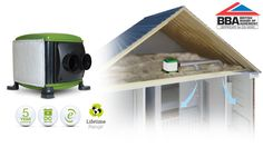 The Mr Venty ECO2 Twin is an energy efficient condensation-control unit with twin inputs for homes with a loft space.