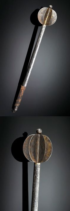 Hungarian Hetman Mace, ca 1650 Fantasy Weapons, Fantasy Warrior, Medieval Weapons, Arm Armor, Chivalry, Metalworking, 17th Century, Swords, Hungary