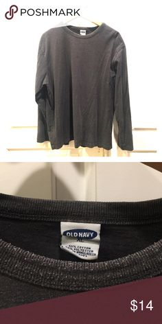 Long sleeve Men's Old Navy tee XL Mid weight a bit thicker than the usual tee, crew neck, slightly faded. Old Navy Shirts Tees - Long Sleeve