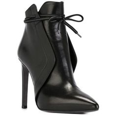 A.F.Vandevorst 152X3656 Boots (26,435 PHP) via Polyvore featuring shoes, boots, stiletto boots, pointed toe boots, black lace boots, high heels stilettos and pointy toe boots