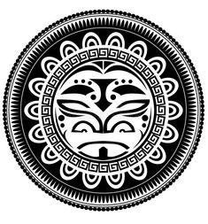 Polynesian tattoo. Vector illustration background vector illustration Polynesian Tattoo Sleeve, Polynesian Tattoo Designs, Circle Tattoo Design, Half Sleeve Tattoo Template, Border Tattoo, Wrist Band Tattoo, Tribal Tattoos For Men, Tribal Sleeve, Tattoo Stencils