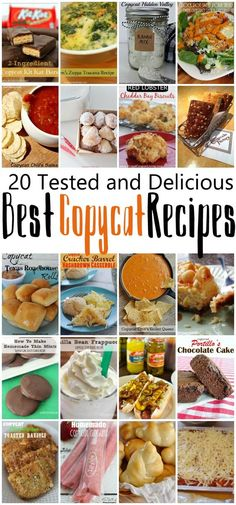 Great Copycat recipes such a good list of our favorite recipe knock off recipes