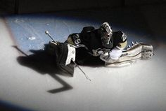 Marc-Andre Fleury before game 2 of the 2011-12 playoffs