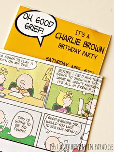 Just Another Day in Paradise: Charlie Brown Party