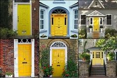 I'm thinking yellow front door with dark grey house!