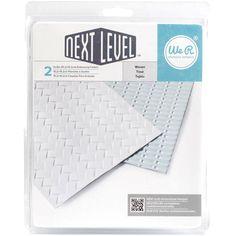 """Next Level Embossing Folders Woven 6""""X6"""" 2/Pkg"""