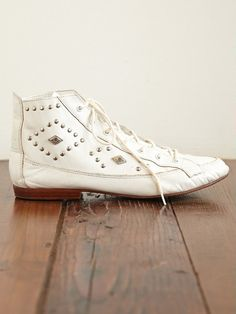 vintage studded boots.