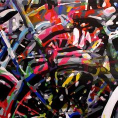 """Saatchi Art Artist TRAFIC D'ART; Painting, """"Cubist Bikes X60"""" #art Saatchi Art, Original Paintings, Bike, Artist, Bicycle, Artists, Bicycles"""