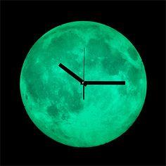 Glow-in-the-dark Moon clock is totally appealing to my inner nerd