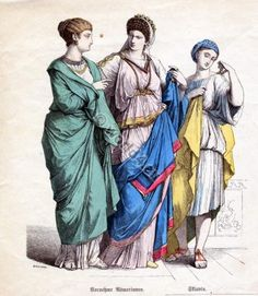 Ancient Roman costumes. how to wear a toga, tunic. Because Ides of March.