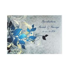 blue winter wedding Invitation cards and matching stationery by #mgdezigns  #winterwedding #invitations