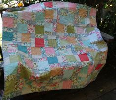 Cherry blossoms quilt by NannyGrans on Etsy