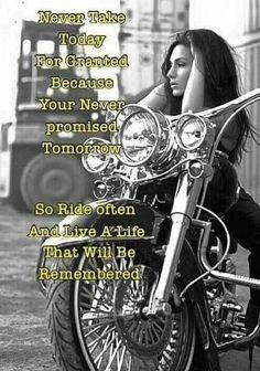 Lady Biker, Biker Girl, New Adventure Quotes, Life Adventure, Women Motorcycle Quotes, Biker Love, Bike Quotes, Biker Chick, Harley Davidson