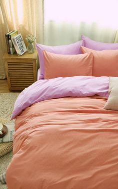 Polka Dots Flowers Orange Bedding Girls Bedding Teen Bedding Kids Bedding