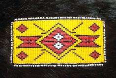 """Superb Quality Native American  Beadwork Done by by Vaughn Labelle of the Stockbridge-Munsee Mohican Tribe Measures 4.75"""" x 2.5"""" FREE SHIPPING  see more photos of backside on listing by clicking here."""