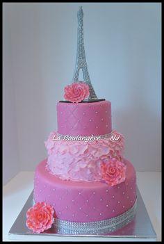 Pretty in Pink Paris Cake