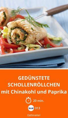 Gedünstete Schollenröllchen - mit Chinakohl und Paprika - smarter - Kalorien: 313 kcal - Zeit: 20 Min. | eatsmarter.de