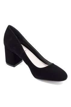 """Velvety goodness plus a low heel means we'll be dressing up with the Preston Heel every day. Dimensions: Heal measures 2.5"""" in height. Details: Velvet."""