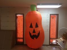 Gemmy Prototype Airblown Inflatable Halloween Long Gourd Jacl O Lantern 22784 | eBay