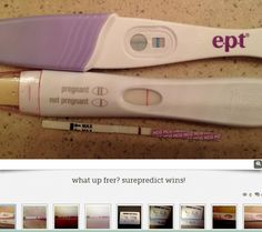 Why our pregnancy tests rock!  We are always first #surepredict #frer