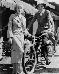 Howard Hughes On Bicycle 8x10 Reprint Of Old Photo