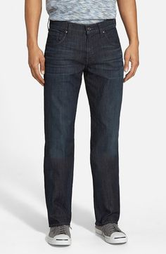 7 For All Mankind® 'Carsen' Easy Straight Leg Jeans (Blue Gleam) available at #Nordstrom